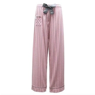 Sami Collection Women's Big Bow Flannel Pants (Small, Dream Stripe)