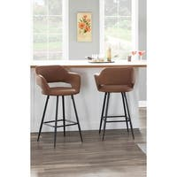 Margarite Contemporary Upholstered Counter Stool (Set of 2) - N/A