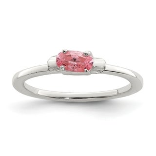 Versil Sterling Silver Pink CZ Candy Kid's Ring
