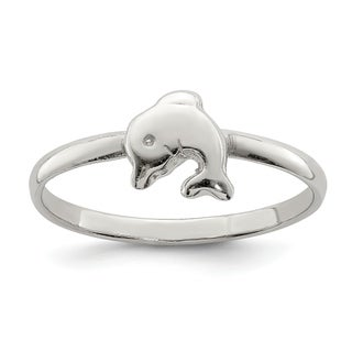 Link to Sterling Silver Rhodium-plated Child's Polished Ring by Versil Similar Items in Children's Jewelry
