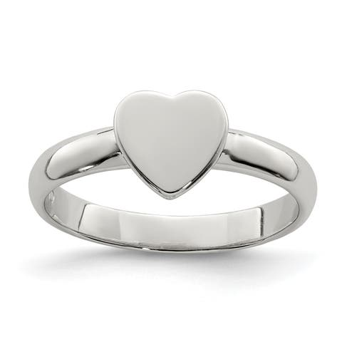 Versil Sterling Silver Heart Ring
