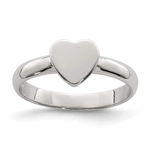 Sterling Silver Heart Ring by Versil