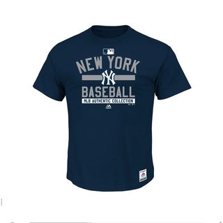 New York Yankees Majestic Women's Plus Size Authentic Collection 1XL - Blue - 1x