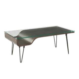Link to Carbon Loft Ali Coffee Table with Glass Top and Wood Nook Similar Items in Dining Room & Bar Furniture
