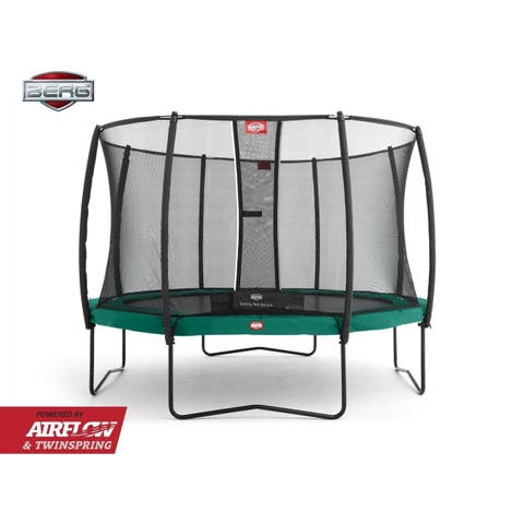 BERG Champion 11ft Trampoline and BERG Safety Net Deluxe