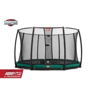 BERG InGround Champion 14ft Trampoline and BERG Safety Net Deluxe