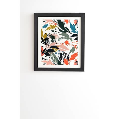 Marta Barragan Camarasa Brushstrokes of nature III Framed Wall Art - Black