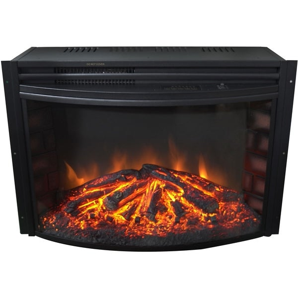 Cambridge 25-In. Freestanding 5116 BTU Electric Curved Fireplace Insert with Remote Control