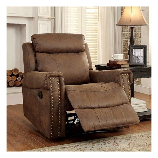 Williams Import Geddes Brown Finish Transitional Recliner