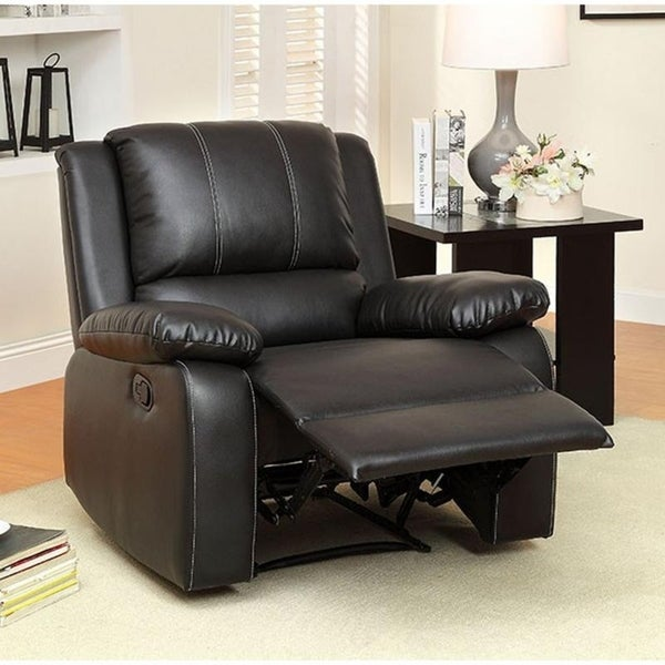 Williams Import Gaffey Brown Wood/Leather Recliner