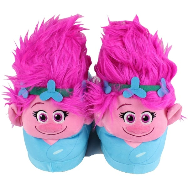 04b1885559e3 Shop DreamWorks Trolls - Poppy Slippers - Happy Feet Mens and Womens ...