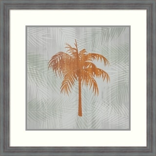 Framed Art Print 'Palm Tree II' by Tandi Venter: Outer Size 24 x 24-inch