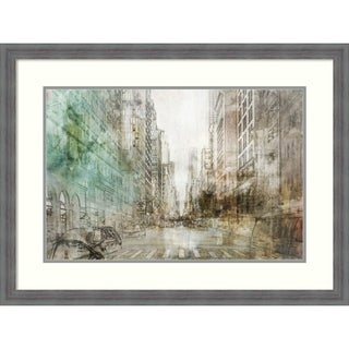 Framed Art Print 'NYC Streets I' by Ken Roko: Outer Size 32 x 24-inch