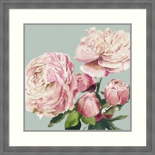 Framed Art Print 'Pink Peony II' by Asia Jensen: Outer Size 26 x 26-inch