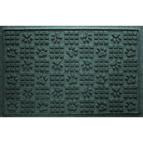 Aqua Shield Dog Paw Squares 2x3-foot PET Fiber Doormat