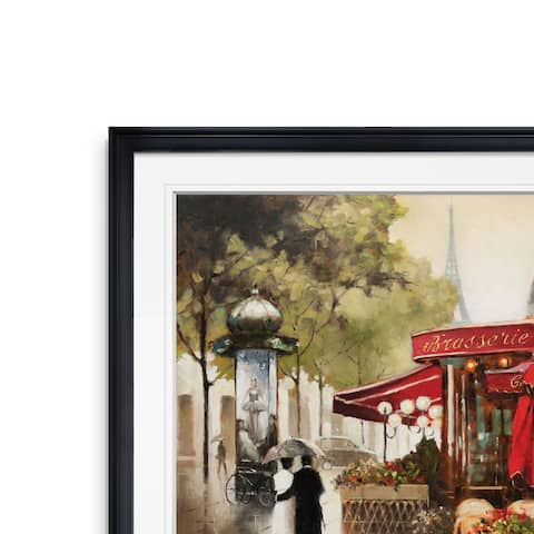 Paris In The Rain -Framed Giclee Print