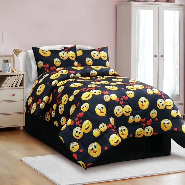Veratex Emoji Madness 3 & 4 Piece Comforter Set