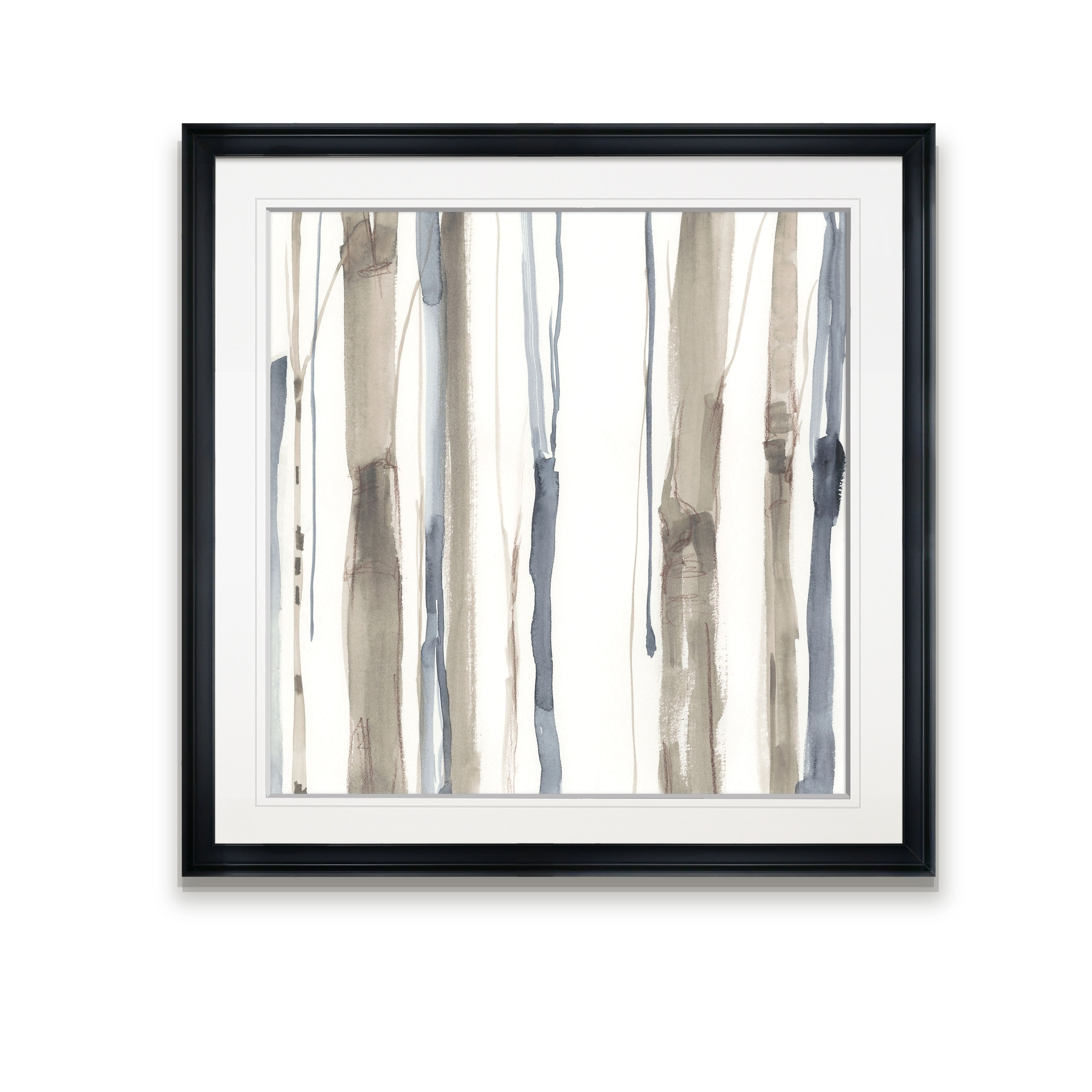 Duo Tone Trees I Framed Giclee Print Overstock 24249928