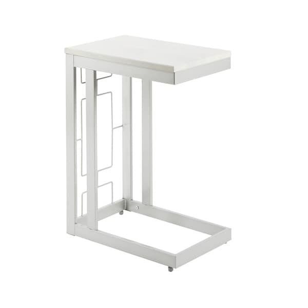 Shea Metal/Wood Double Square C Table with Square Accent