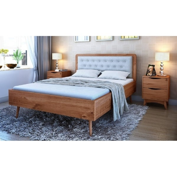 Shop Rustic Modern 62 Quot Tufted Bedford Queen Size Bed