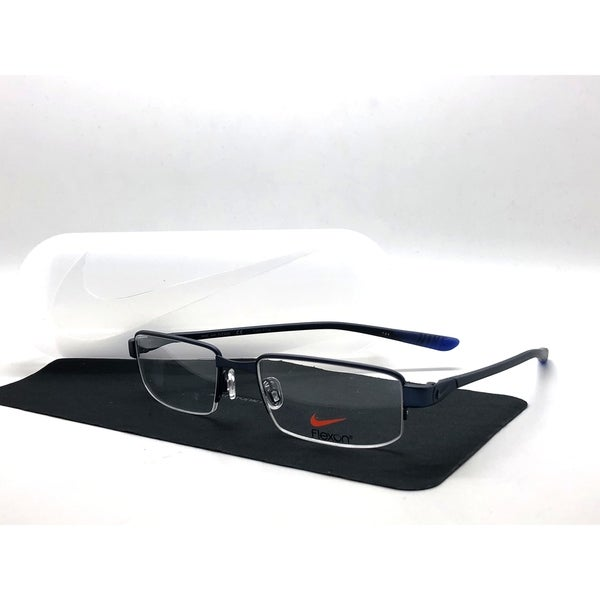 d35006300aa3 Shop Nike semi Rimless 4275 425 Satin Blue-deep Royal Blue Eyeglasses 51MM  - Free Shipping Today - Overstock - 24250038