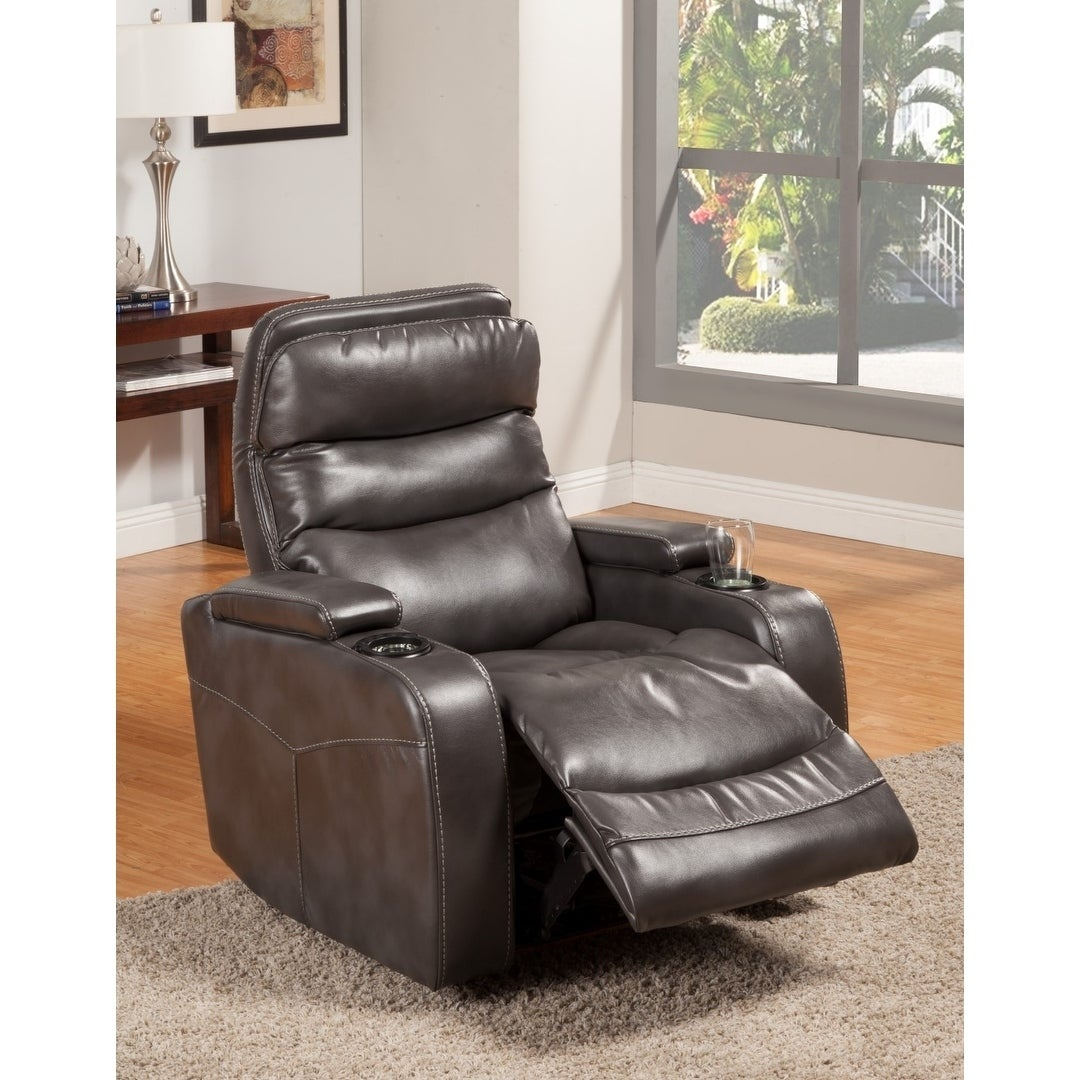 Acton Home Theater Power Recliner (Grey Beige Brown)