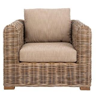 Safavieh Couture Bora Bora Wicker Accent Chair - Natural - 38.58 in w x 35.43 in d x 25.59 in h