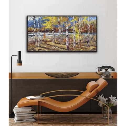 Autumn Morning Framed Canvas Wall Art