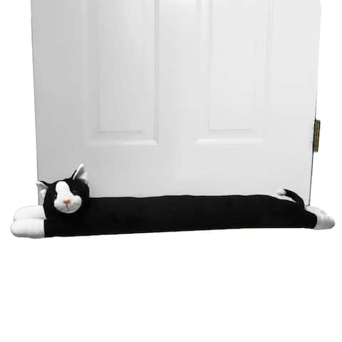 Evelots CAT Door Window Draft Stopper-38 Inches-No Noise, Bug, Insect-Keep Heat In