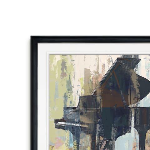 Bluebird Piano -Framed Giclee Print