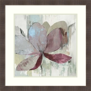 Framed Art Print 'Drippy Floral I' by Asia Jensen: Outer Size 26 x 26-inch