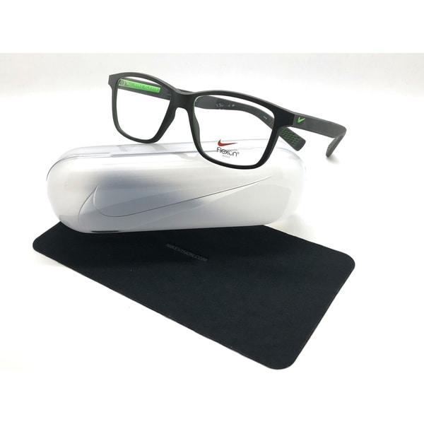 58126248a3c3 NIKE Flexon Bridge 4265 237 Matte Gray Green Square Eyeglasses Frames 54-16  145