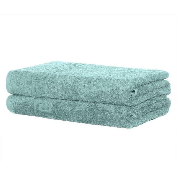 Solid Turquoise 2 piece 100% Cotton Hand Towel