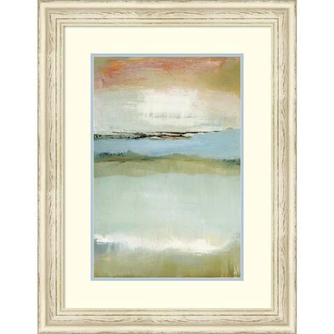 Framed Art Print 'Floating World' by Caroline Gold: Outer Size 24 x 31-inch