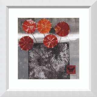 Framed Art Print 'Joy I' by Connie Tunick: Outer Size 28 x 28-inch