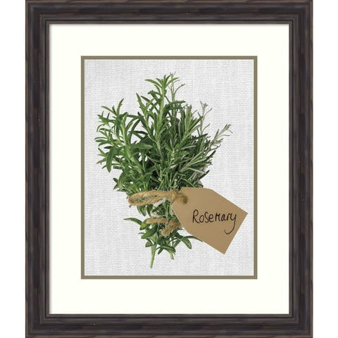 Framed Art Print 'Rosemary' by Assaf Frank: Outer Size 23 x 27-inch