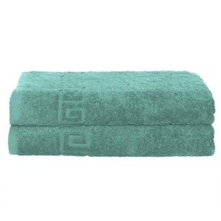 Solid Turquoise 2 piece 100% Cotton Bath Towel