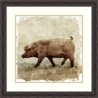 Framed Art Print 'Pig white border' by PI Studio: Outer Size 29 x 29-inch