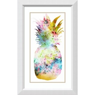 Framed Art Print 'Pineapple II' by PI Studio: Outer Size 21 x 34-inch