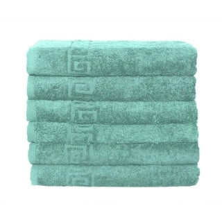 Link to Solid Turquoise 6 piece 100% Cotton Hand Towel Similar Items in Towels
