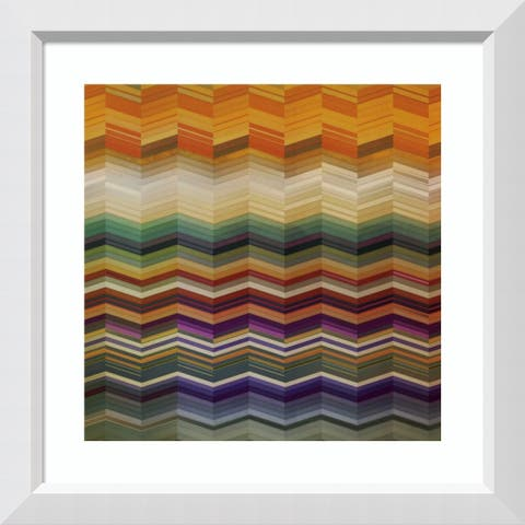 Framed Art Print 'Color and Cadence II' by Noah: Outer Size 29 x 29-inch