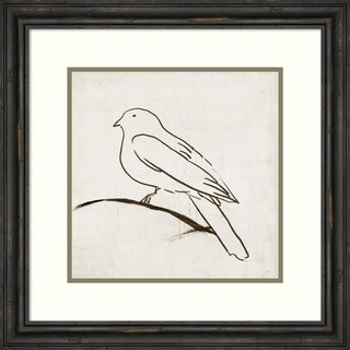 Framed Art Print 'Bird I' by Tom Reeves: Outer Size 23 x 23-inch