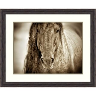 Framed Art Print 'Mustang Sally' by Lisa Dearing: Outer Size 33 x 27-inch