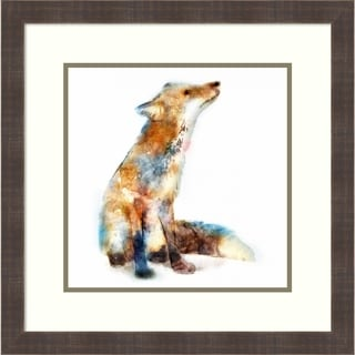 Framed Art Print 'Fox' by Edward Selkirk: Outer Size 22 x 22-inch