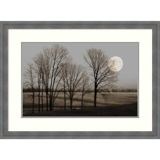 Framed Art Print 'November Moon' by Heather Jacks: Outer Size 30 x 22-inch