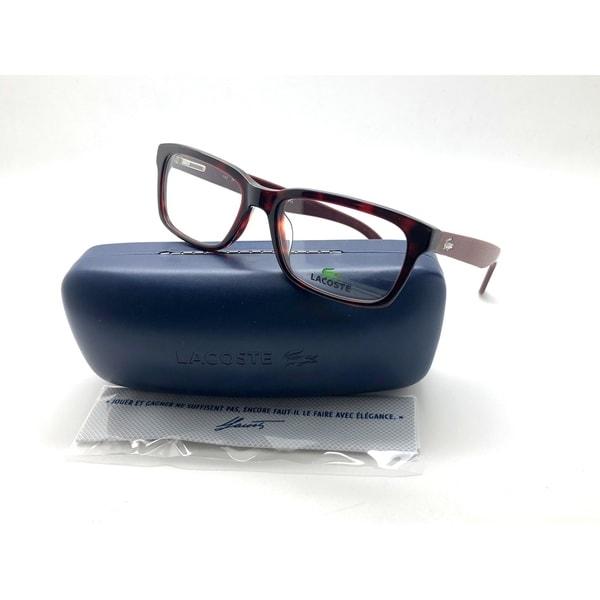 fdb52084e8 Shop NEW Lacoste L2672 615 52mm Red Havana Optical Eyeglasses Frames ...