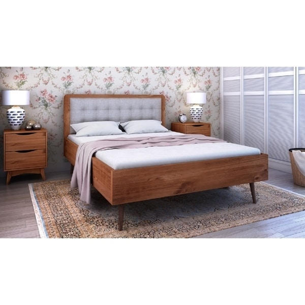 Shop Rustic Modern 440 Tufted Bedford 44040 Queensize Bed Frame With Fascinating Bedford Bedroom Furniture Creative Plans