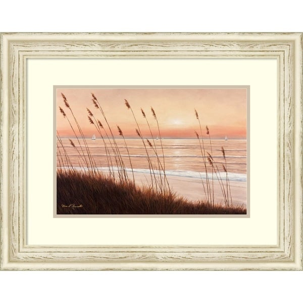 Shop Framed Art Print Breezy Sunset By Diane Romanello Outer Size