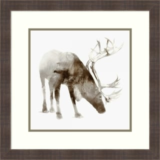 Framed Art Print 'Caribou' by Edward Selkirk: Outer Size 22 x 22-inch