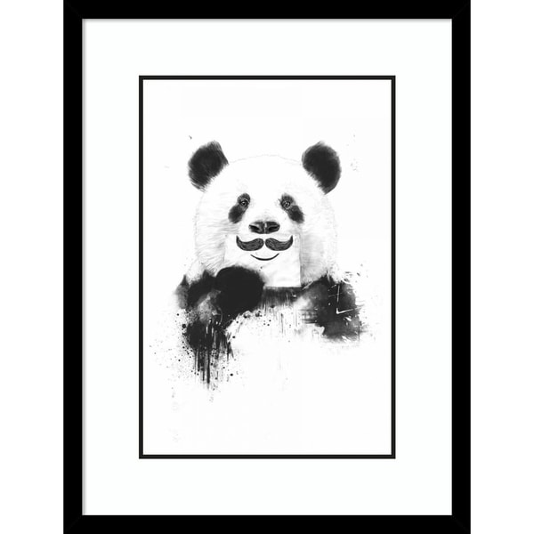 Shop Framed Art Print Funny Panda By Balazs Solti Outer Size 16 X